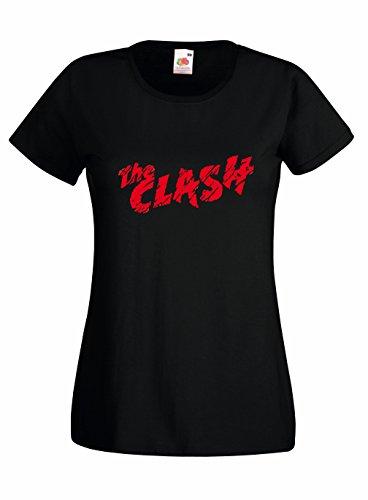 T-shirt Donna The Clash Maglietta 100% cotone LaMAGLIERIA, S, Nero