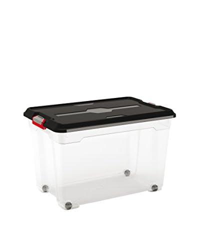KIS Set 4 Cajas Moover Box Xl Trasparente / Negro