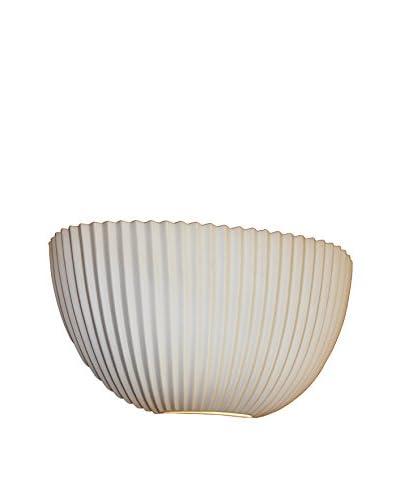 Justice Design Group Limoges 2-Light Quarter Sphere Wall Sconce with Porcelain Pleats, Translucent P...
