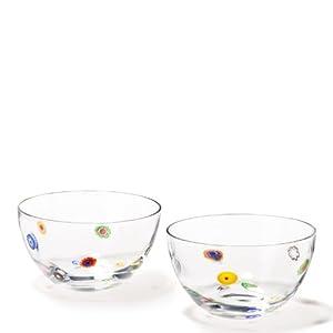leonardo small millefiori bowl set of 2 kitchen dining. Black Bedroom Furniture Sets. Home Design Ideas