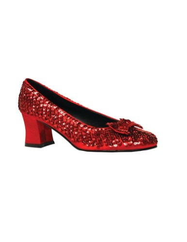 Womens Red Sequin Dorothy Costume Shoes