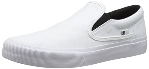 DC Men's Trase Slip-On TX U Skate Shoe,White,9 M US