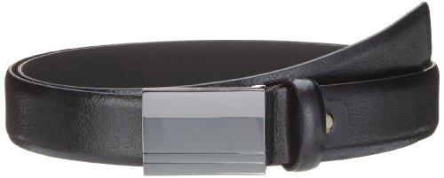 Selected - Cintura, uomo, Nero (Schwarz (Black / Silver Plate)), 95 cm
