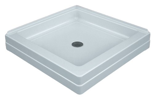 ASB 420630 32-Inch by 32-Inch Corner Entry Shower Base, White