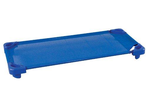 Ecr4Kids Blue Stackable Assembled Standard Portable Daycare / Preschool Kiddie Cots / Bed For Kids 5 Pack front-981380