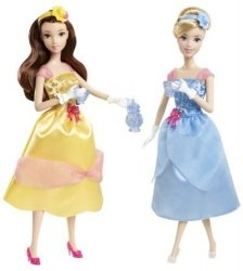 Disney Princess Tea Time Belle Cinderella Doll Gift Set 131002Fnp [ Parallel Import Goods ]