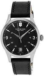 Victorinox Swiss Army Alliance Black Dial Black Leather Ladies Watch 241542