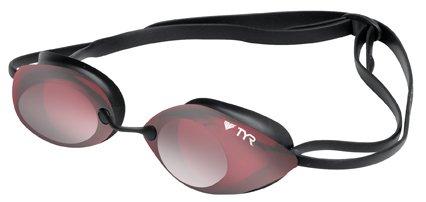 TYR, Occhialini da nuoto adulto, Rosso (red / Silver), Standard