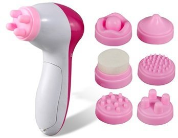 Brownylife Shop - 6 In 1 Facial Exfoliator Care Cleansing Body Electronic Beauty Skin Face Cleaner Massage Machine