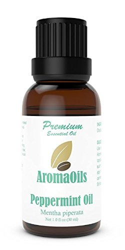Peppermint Essential Oil by AromaOils - 1 oz (30 ml) - Best for Mice and Pest Repellent, Aromatherapy, Headache Relief - Fresh Menthol and Mint Scent - 100% Pure and Therapeutic Grade