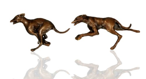 Solid Bronze Sculpture Racing Greyhound Dog Cufflinks. Racing Cufflinks.