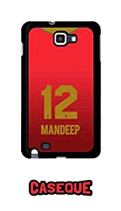 Caseque IPL Royal Challengers Banglore Mandeep Jersey Back Shell Case Cover For Samsung Galaxy Note 1