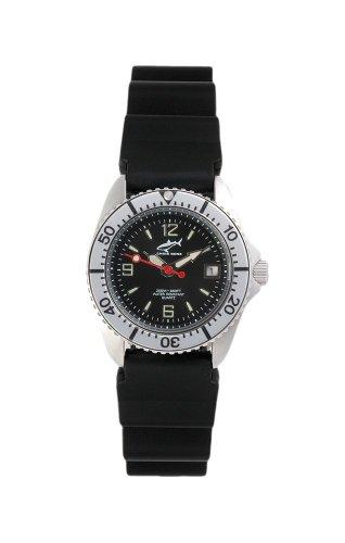 Chris Benz One Lady CBL-S-SI-KB Reloj elegante para mujeres Reloj de Buceo