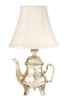 Small Silver Teapot Accent Table Lamp (Teapot Table compare prices)