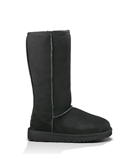 UGG Australia Girl's Classic Tall Black Sheepskin Boot 2 M US