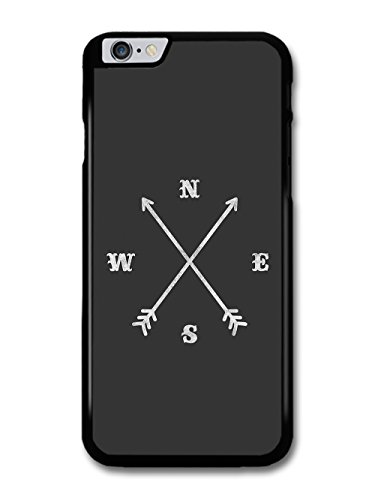 Cool Hipster Black and White Compass and Arrows Design custodia per iPhone 6 Plus 6S Plus