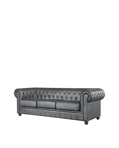 Manhattan Living Chestfield Sofa, Black
