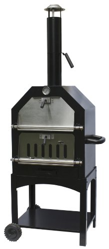 La Hacienda 56107US Steel Construction Pizza Oven and Smoker (Pizza Oven Small compare prices)