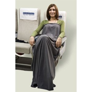 Travelon Luggage Healthy Travel Anti-Microbial Blanket, Gray, Small