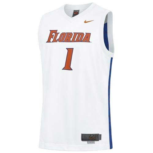 florida gators basketball. Nike Florida Gators #1 White