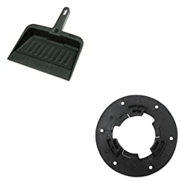 KITBWKN92RCP2005CHA - Value Kit - Boardwalk Universal Clutch Plate (BWKN92) and Rubbermaid-Chrome Heavy Duty Dust Pan (RCP2005CHA)
