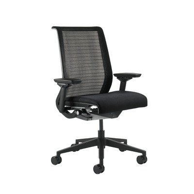 Steelcase 46543100K   w 6205 Black   3DK 5064   5F17 Fabric Think Executive  Chair with Black Mesh Back and Black Base Casters  Reviewoffice chair back supports   Buy Steelcase 46543100K   w 6205  . See Through Office Chairs. Home Design Ideas