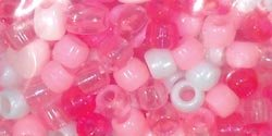 Sulyn Clubhouse Crafts Bead Mix-Hearts-Pink; White; 3 Items/Order