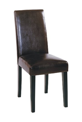 Black friday armen living high back leather dining chair for Cheap high back dining chairs
