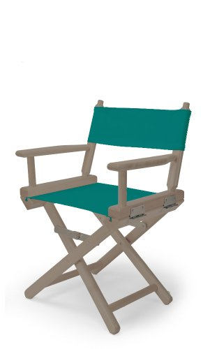 Telescope Casual Child'S Director Chair, Rustic Grey With Teal Canvas Fabric