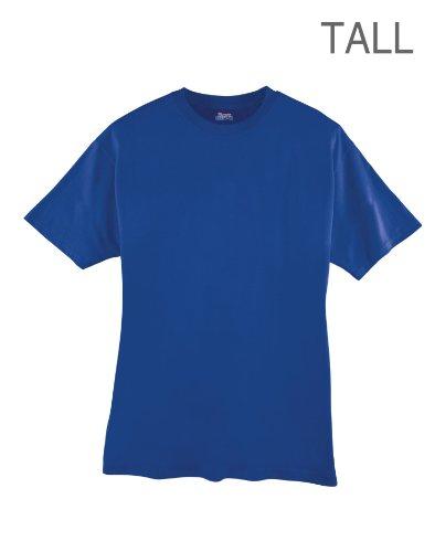 Hanes Men 39 S Beefy T Tall T Shirt Deep Royal 2x Large