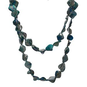 Fusion Turquoise Shell Long Necklace