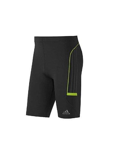 Adidas Adistar Mens Climacool Running Short Tight - Black/Green - P93321