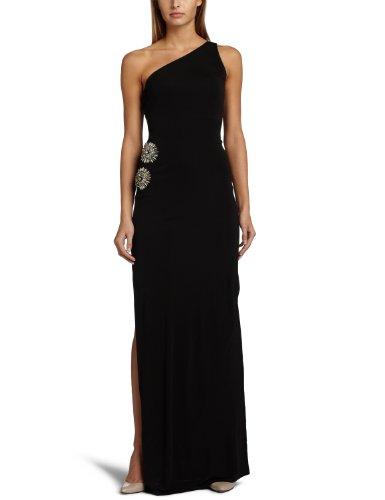 ABS Allen Schwartz Women's Asym Bead Waist Gown