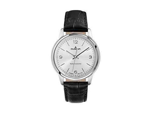 Dugena Women's Radio-controlled Watch black/silver 4460642