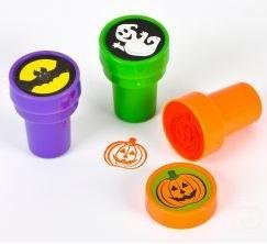 Halloween Stampers 1.38 in (24 Pack) ~ Bats, Ghosts, Pumpkins - 1