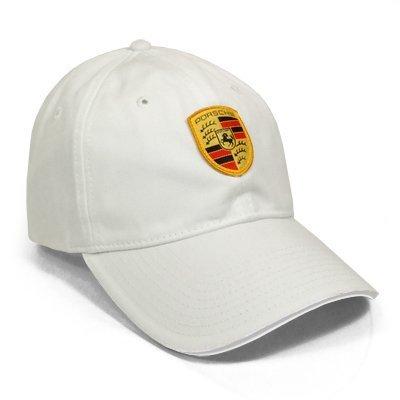 Porsche Crest Logo White Baseball Cap (Porsche Baseball Cap compare prices)