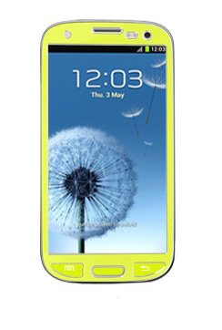 S3 Full Protective Screen, Samsung Galaxy S3 I9300 Aluminium Sticker Skin Full Body Matte Anti Finger Anti Glare Screen Protector Guard Film For Luxury Looks Diamond Cutting Siii (Lime)