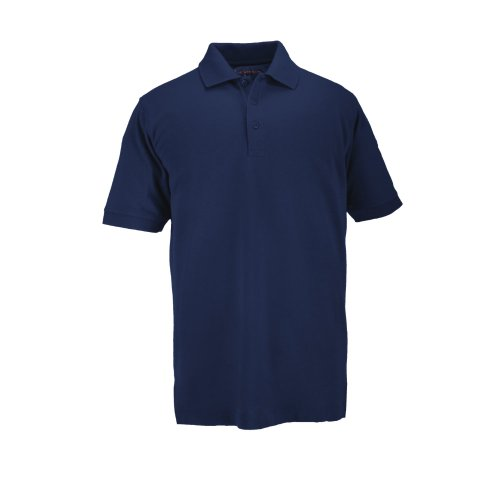 5.11 #41060T Short Sleeve Tall Professional Polo Shirt (Dark Navy, X-Large) front-624593