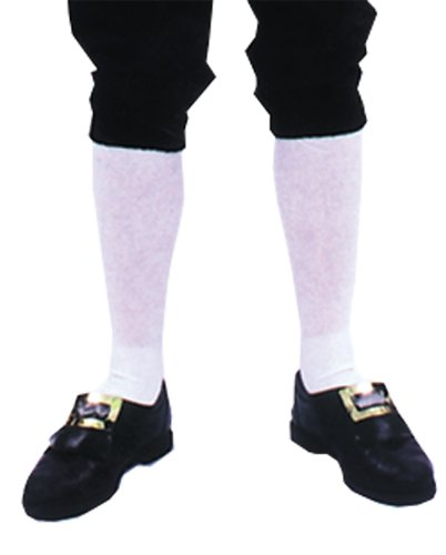 Costume-Accessory Socks Colonial Mens Pair Halloween Costume Item - 1 size