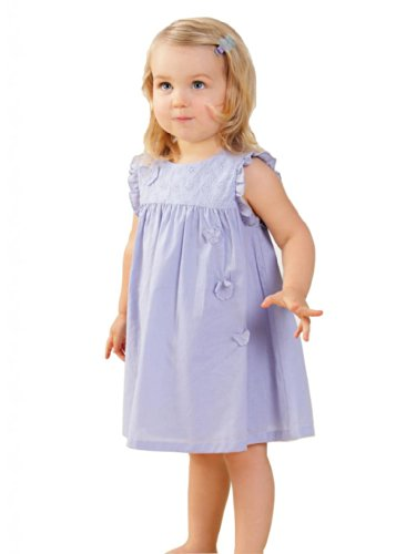 Osa Cute Baby-Girls Infant Cotton Butterfly Mini Sun Dress Purple front-345214