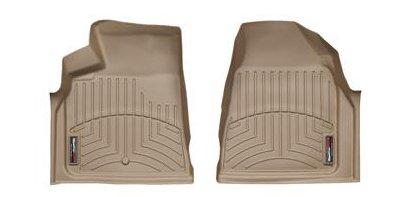 2008 - 2015 Buick Enclave Front Set [Twist Type Retention] - WeatherTech Custom Floor Mats Liners - Tan (Enclave Weathertech compare prices)