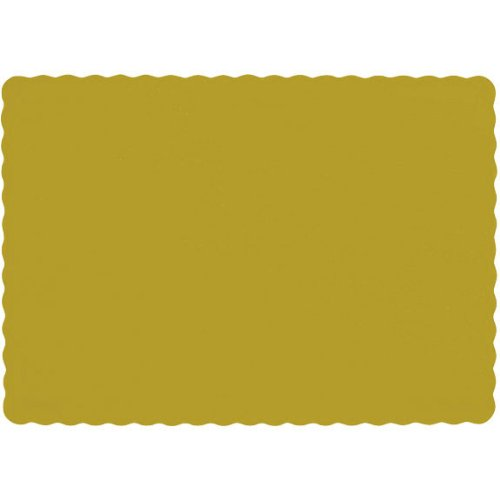 "Amscan Sunshine Solid Color Paper Placemats, 10 x 14"", Yellow"