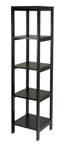 Winsome Wood Hailey 5-Tier Shelf Tower Collection 60
