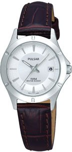 Pulsar by Seiko Ladies Leather Strap Watch PXT891X1