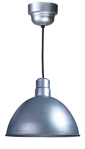 Anp Lighting D616-49-100Glfr-Gup-49-Rbhc-32Wpl-49 Galvanized Deep Bowl Rlm Spun Aluminum Deep Bowl Industrial Barn Light With Cord Outdoor Pendant Mount Hi Bay/Low Bay