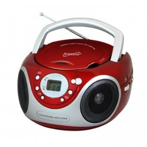 Supersonic Portable MP3/CD Player (Red)