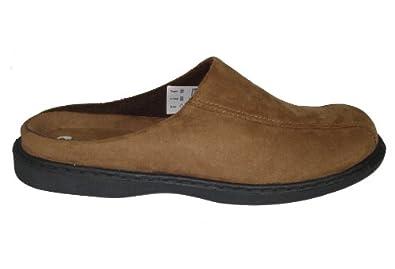 Mens Jarrow Suede Look Mules Slippers Brown Size 6