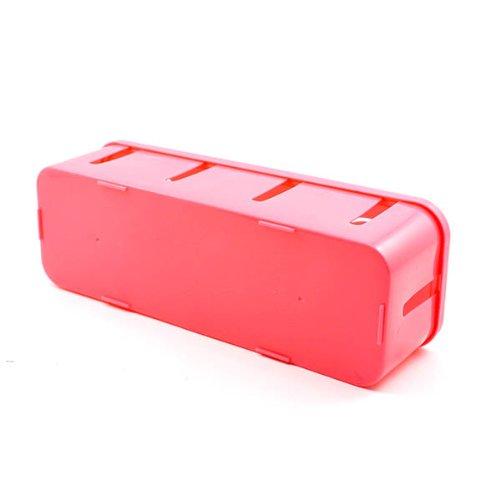 HuaYang Nouveau sortie boîte de rangement/fil boîte de rangement/prise boîte de rangement(rose)