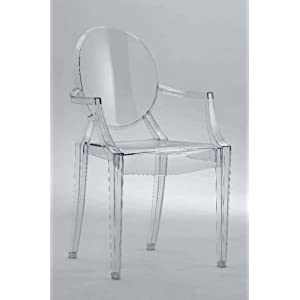 Louis Ghost Chair - Transparent Acrylic Chair