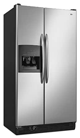 Amana 25 -Cubic Foot Side-by-Side Refrigerator, ASD2522WRS, Stainless Steel
